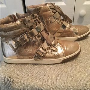 Gold Vince Camuto sneakers
